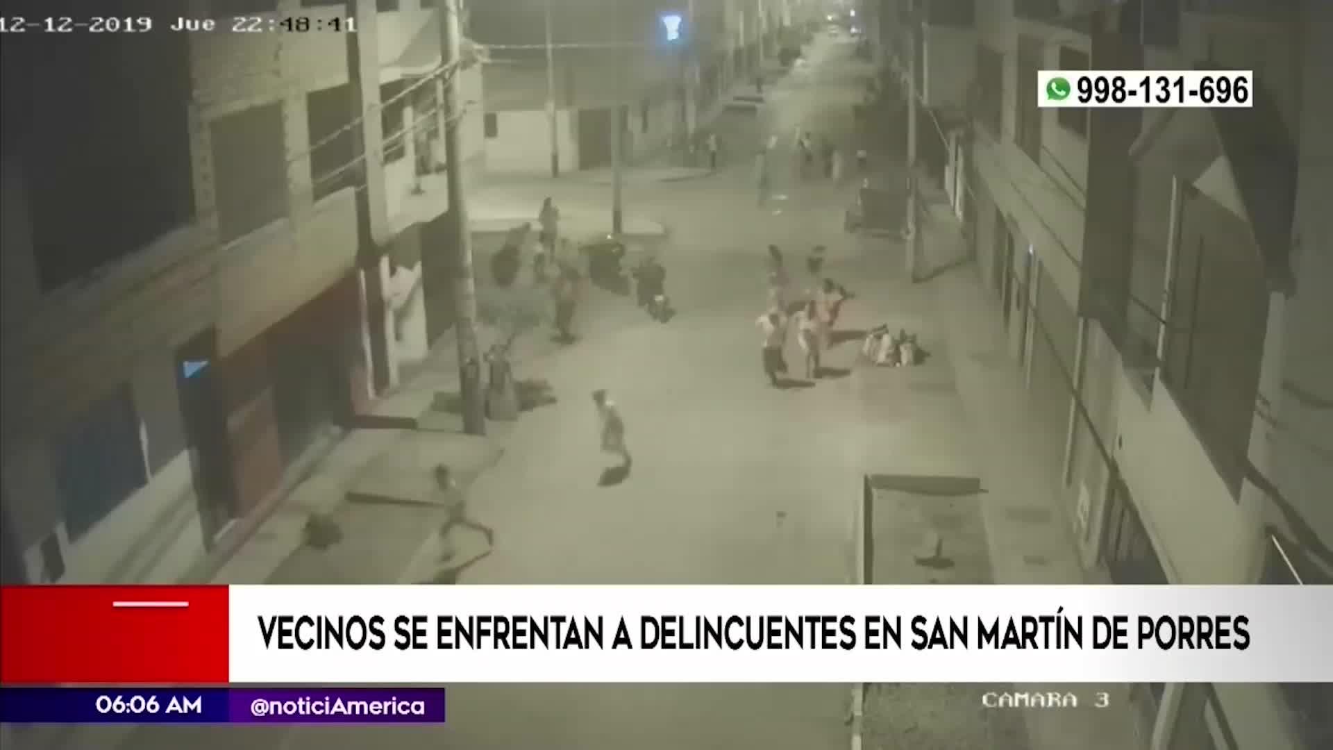 SMP: Serenos son atacados en enfrentamiento entre vecinos y delincuentes