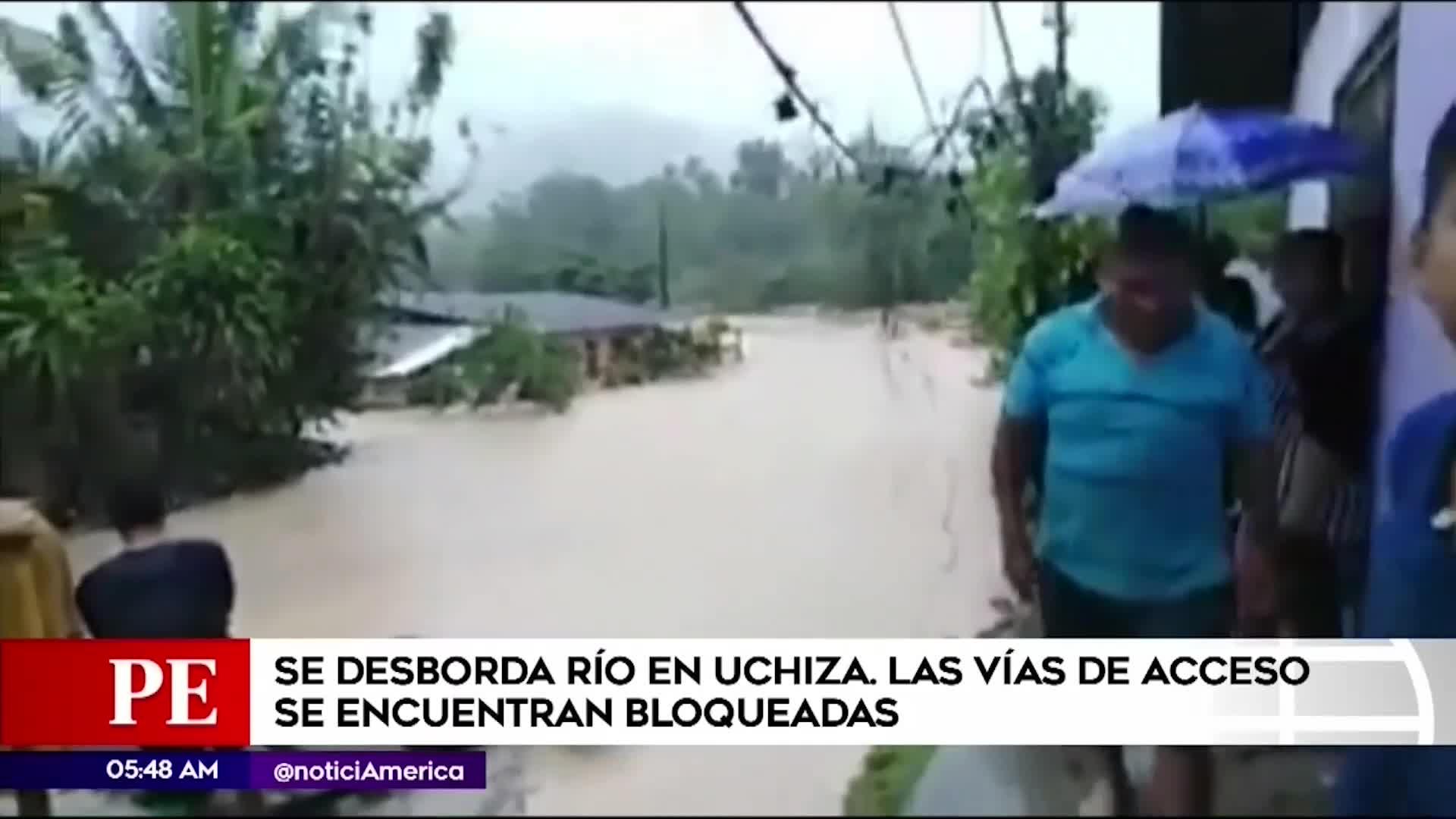 San Martín: fuertes lluvias afectan al distrito de Uchiza