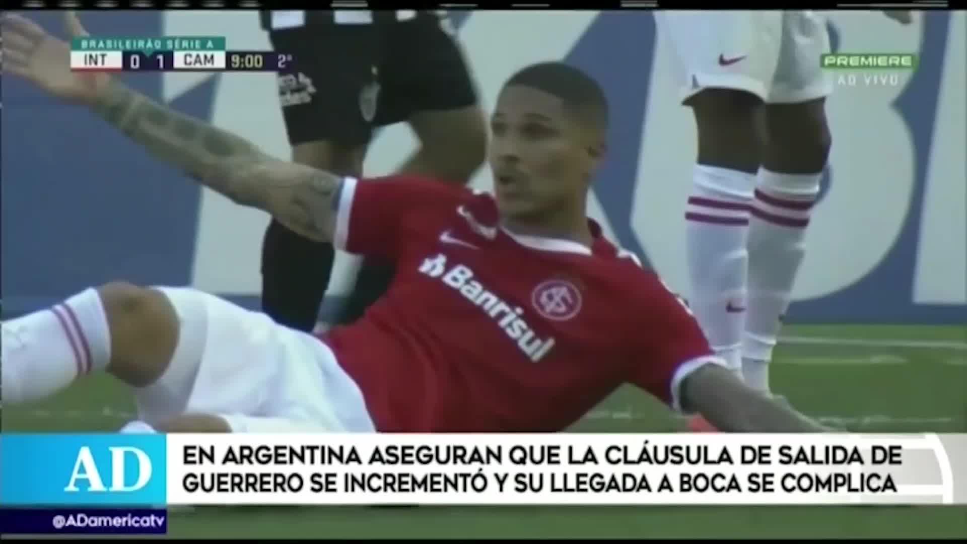Paolo Guerrero: Medios argentinos aseguran que se complicó su llegada a Boca Juniors
