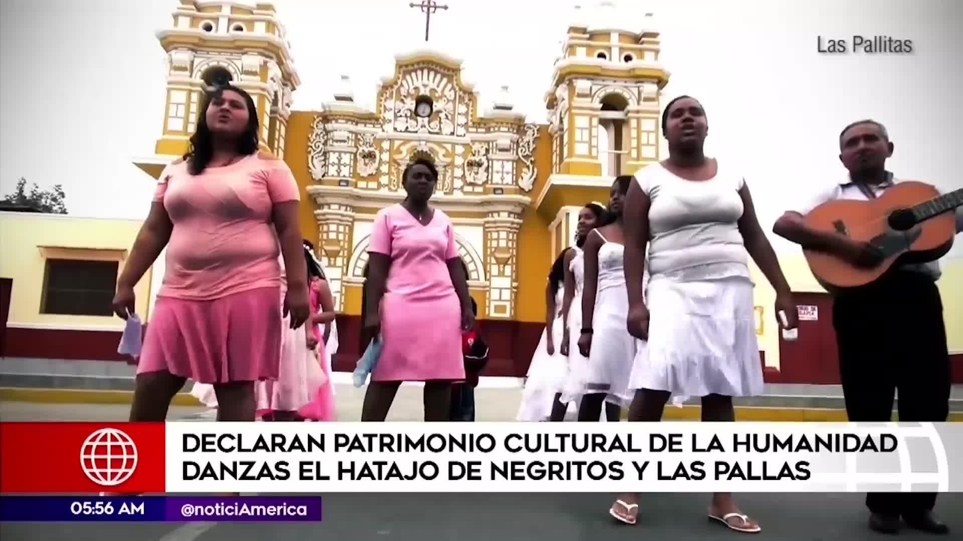 Danzas Las Pallitas y Hatajo de Negritos son declaradas Patrimonio de la Humanidad