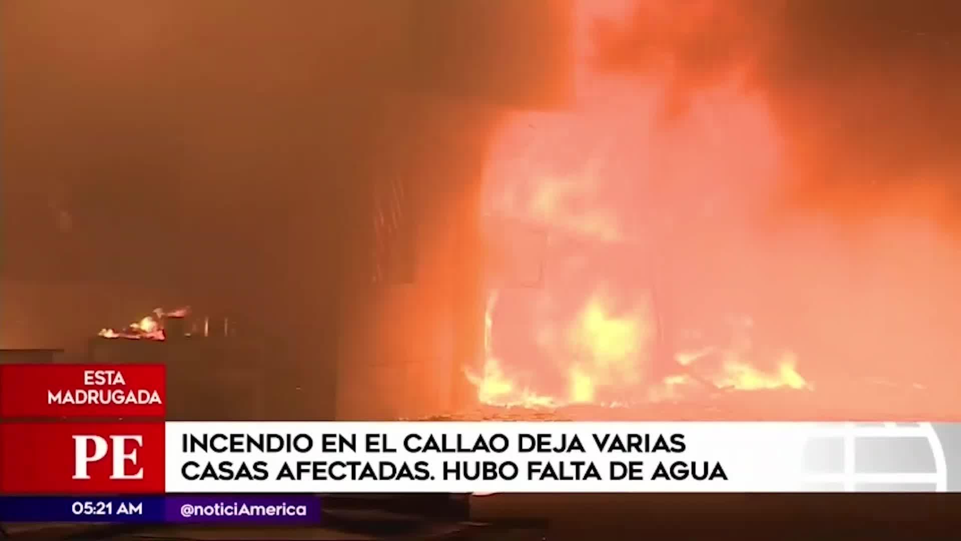 Callao: incendio se registró esta madrugada en almacén de madera