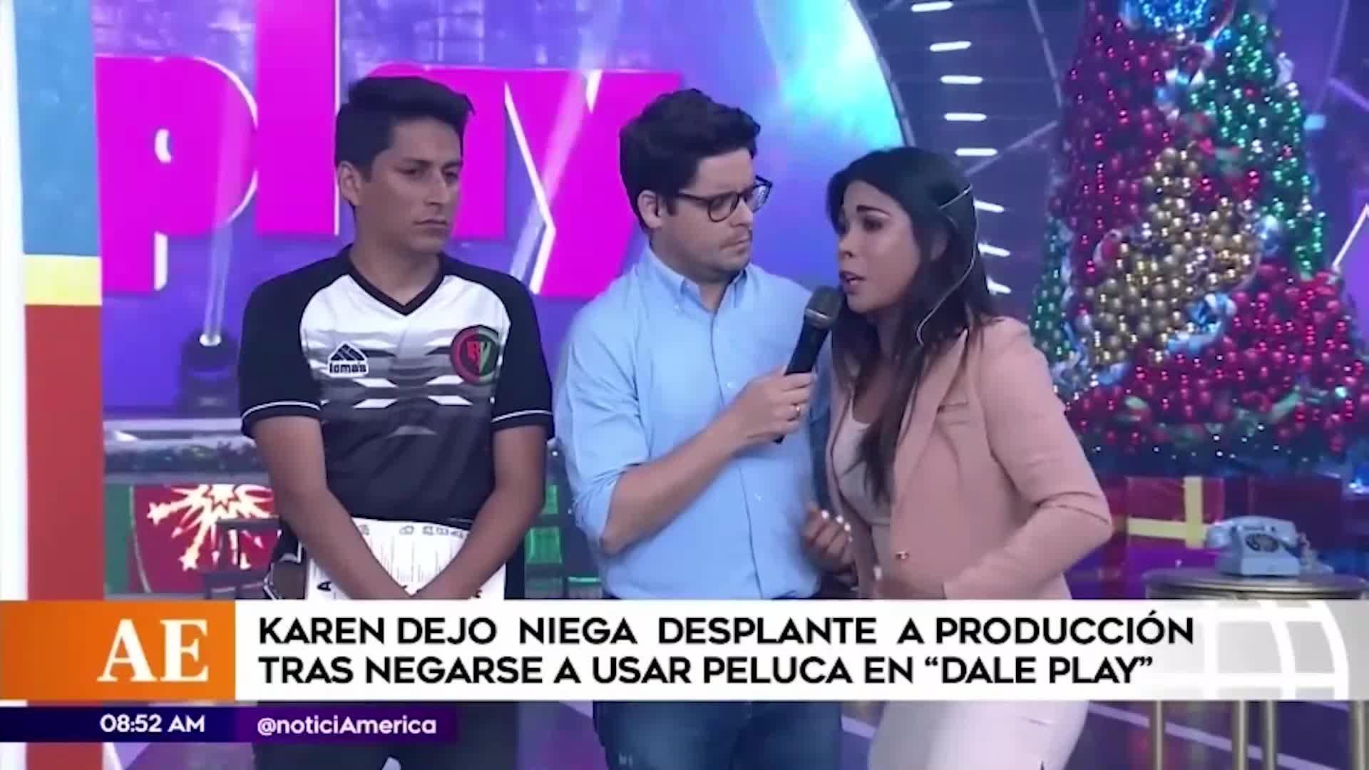 EEG: Karen Dejo se defiende tras ser acusada de hacer desplante al equipo de producción
