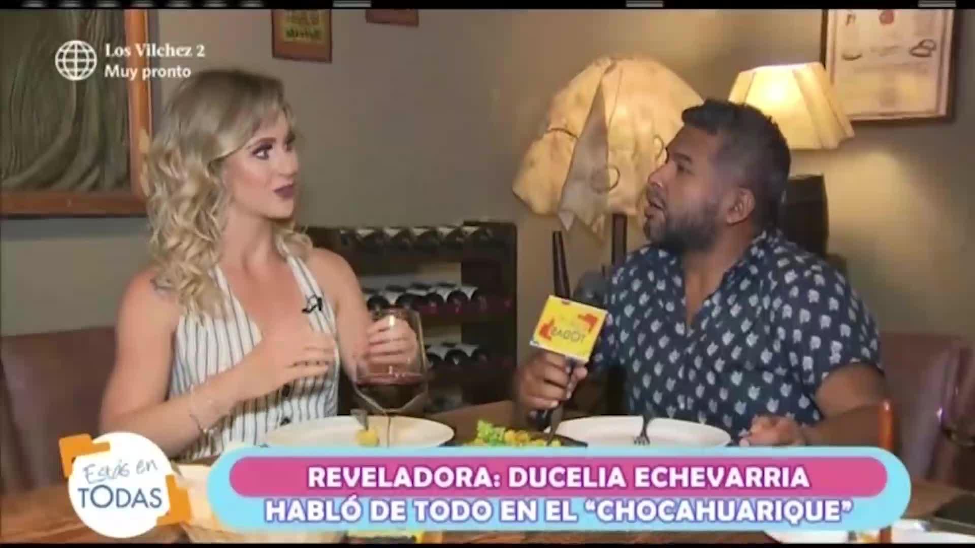 """Ducelia Echevarría revela detalles sobre su vida en el """"Chocahuarique"""""""