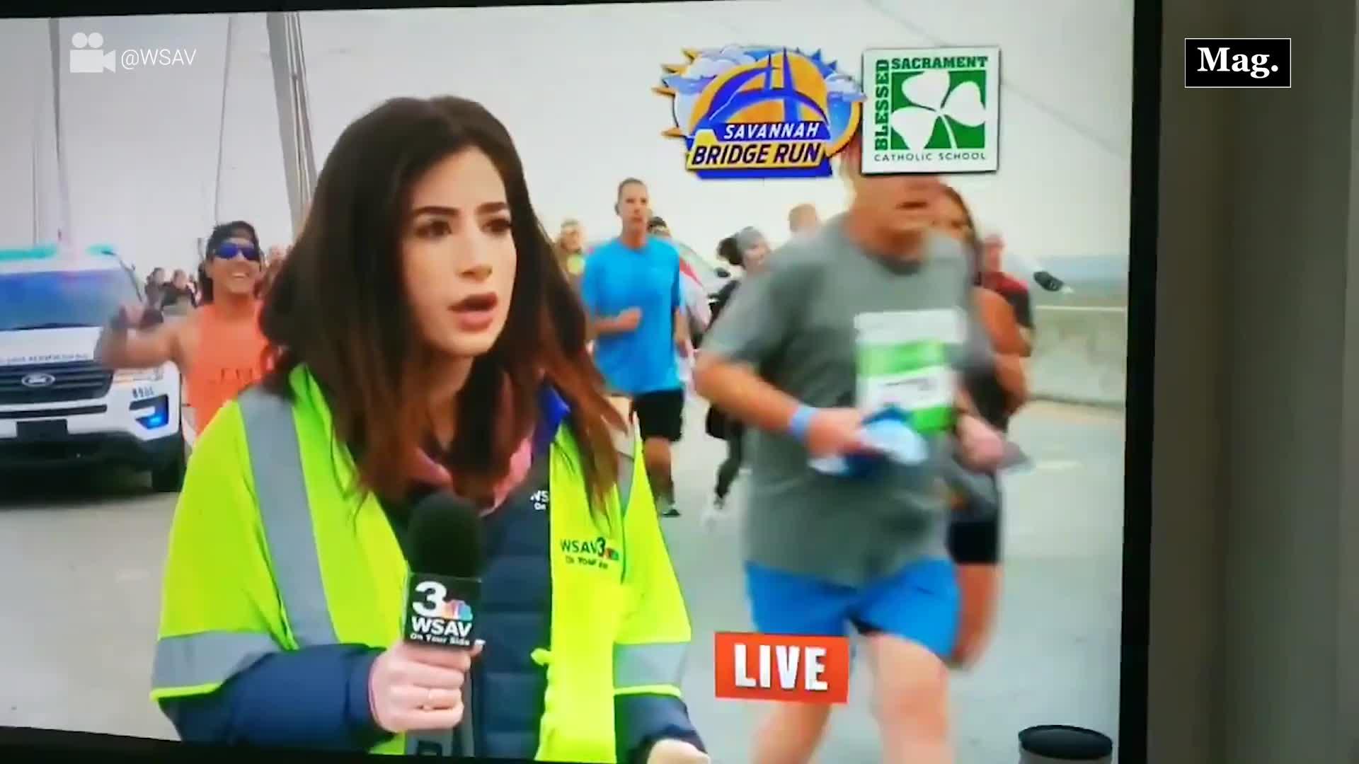 Maratonista que acosó sexualmente a reportera durante una transmisión en vivo ha sido arrestado