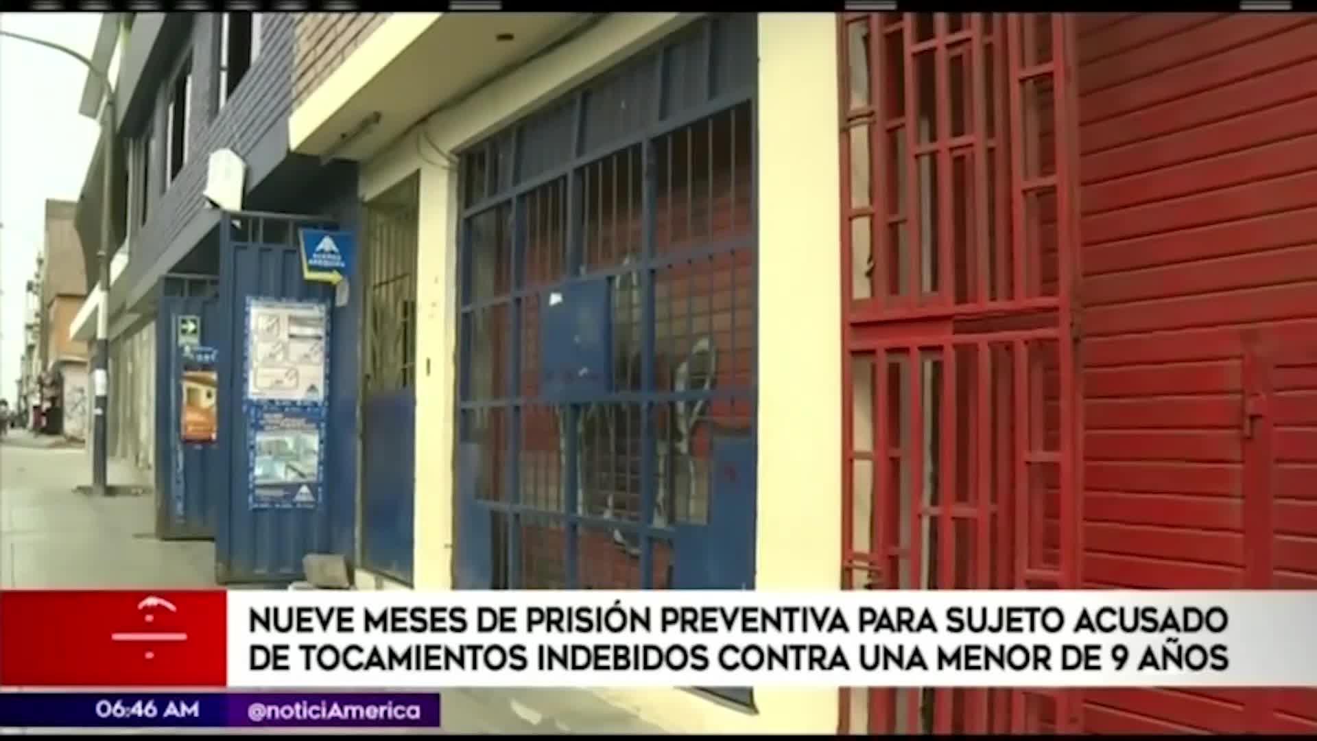 Dictan nueve meses de prisión preventiva a sujeto por tocamientos indebidos a menor de edad