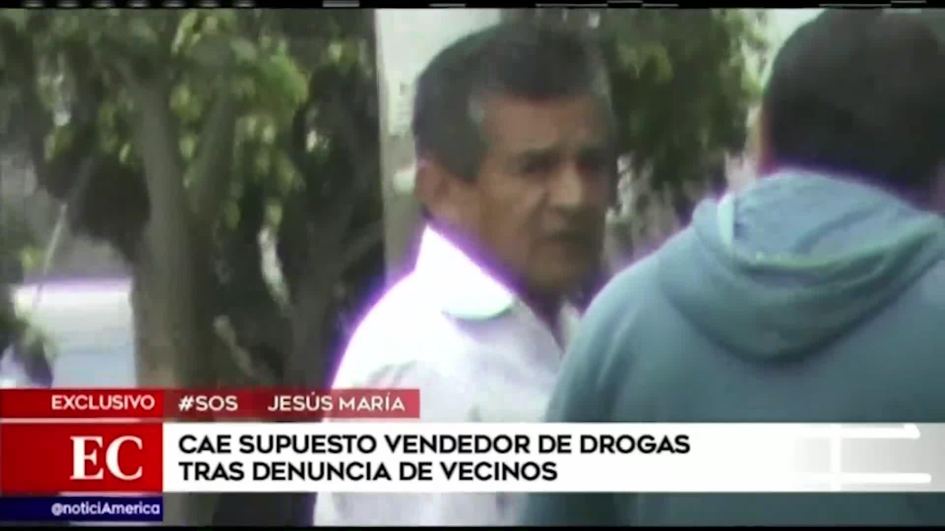 Jesús María: capturan a presunto vendedor de droga tras denuncia de vecinos