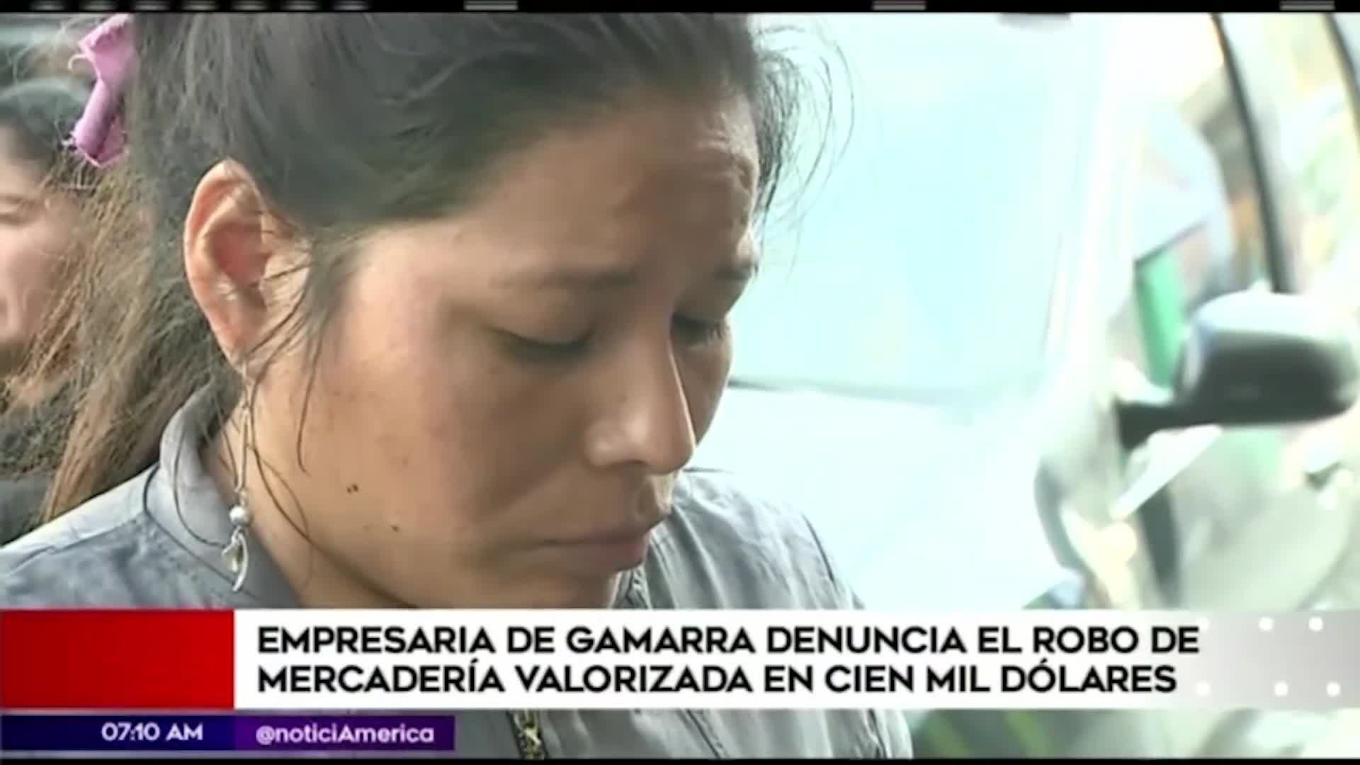 Empresaria de Gamarra denuncia robo de mercadería