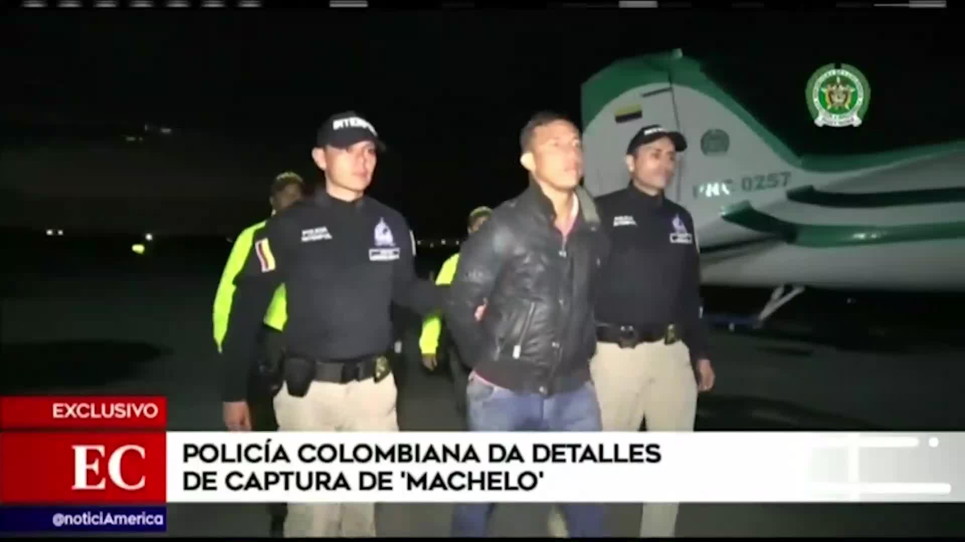 """Doble crimen en SMP: autoridades de Colombia muestran detalles de la captura de """"Machelo"""""""
