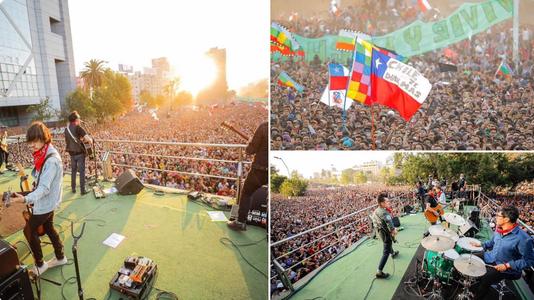 """Chile: masivo concierto """"por la dignidad"""" con míticos grupos como Los Búnkers e Inti Illimani"""