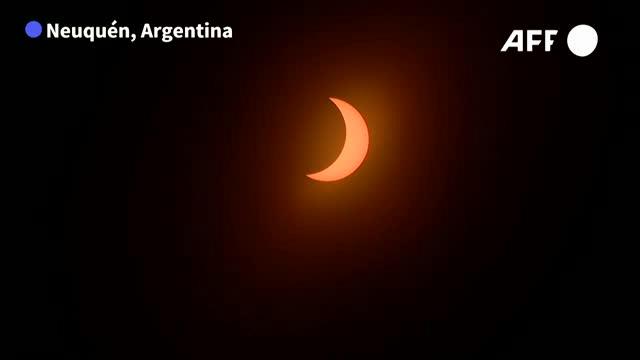 Así se vio el eclipse total de sol en el sur de Argentina