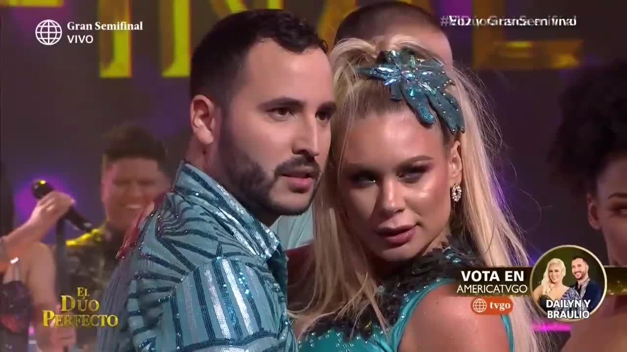 """""""El dúo perfecto"""": Dailyn Curbelo y Braulio Chappell deslumbraron en la pista de baile"""