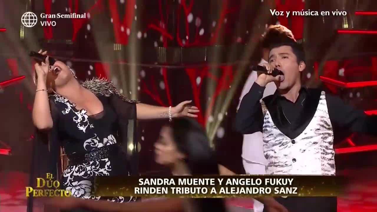 'El dúo perfecto': Sandra Muente y Ángelo Fukuy rindieron homenaje a Alejandro Sanz y obtuvieron puntaje perfecto