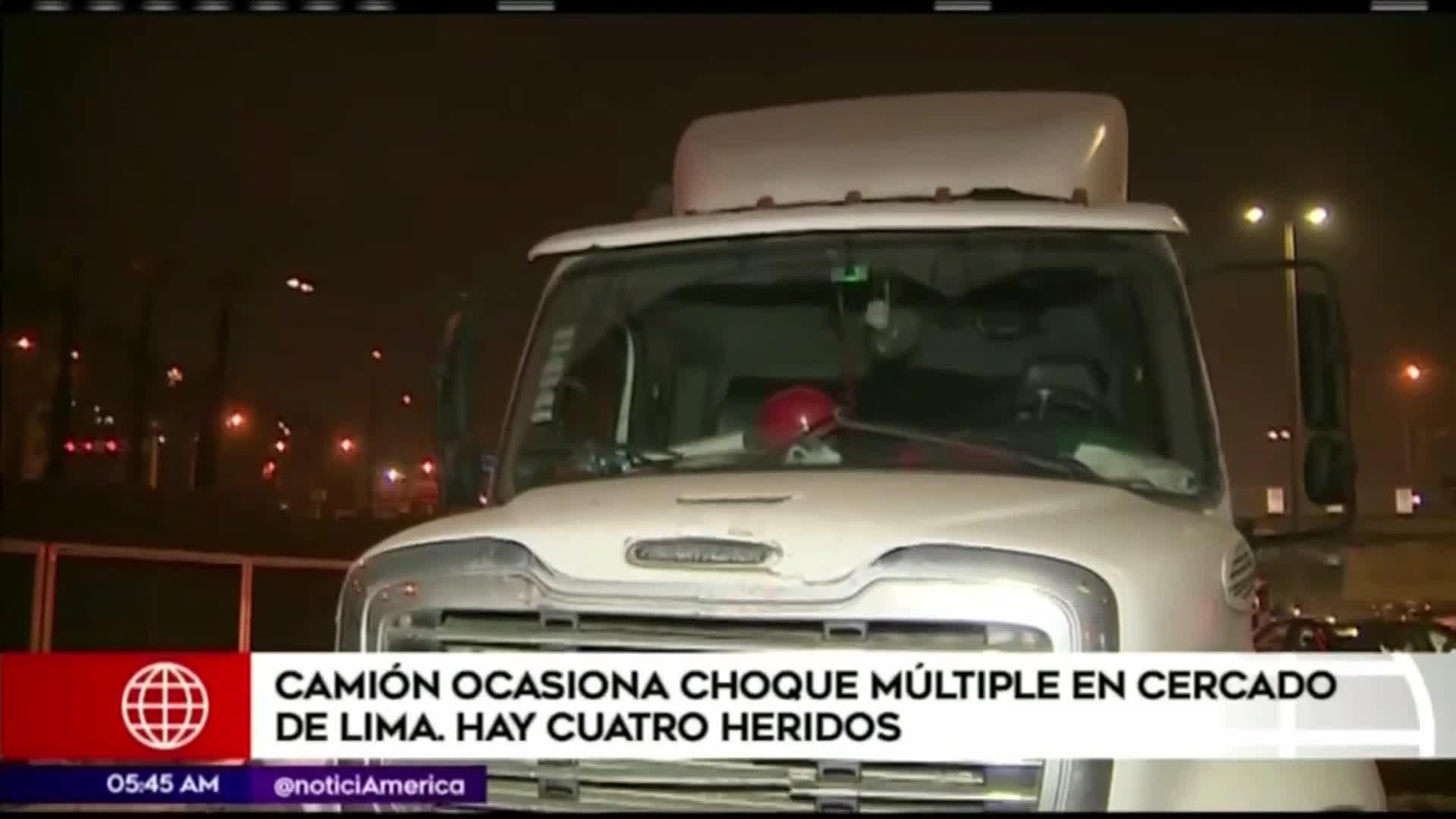 Cercado de Lima: accidente deja cuatro heridos
