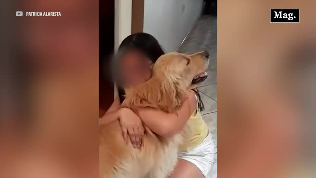 Viral: Mamá encuentra a perrito perdido de su hija y la sorprende por su cumpleaños
