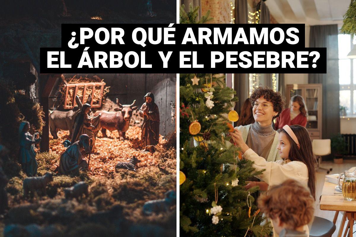 El pesebre y el árbol navideño: ¿De dónde vienen estas tradiciones?
