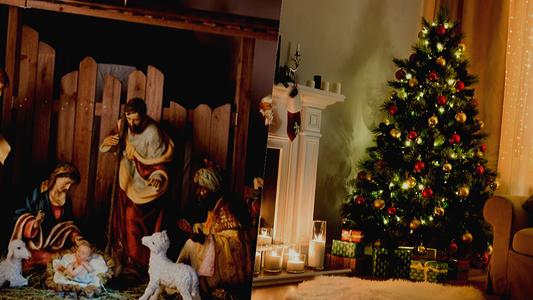 ¿De dónde surge la tradición de montar el pesebre y el árbol navideño?