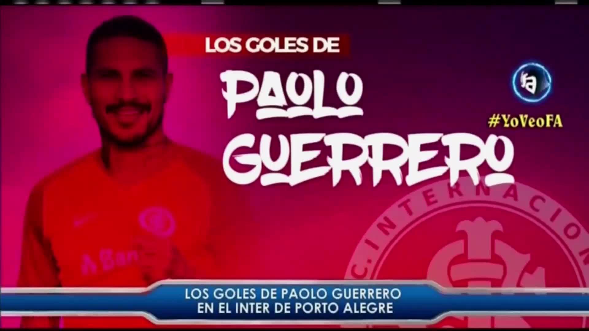 Disfruta de los mejores goles de Paolo Guerrero en Inter de Porto Alegre